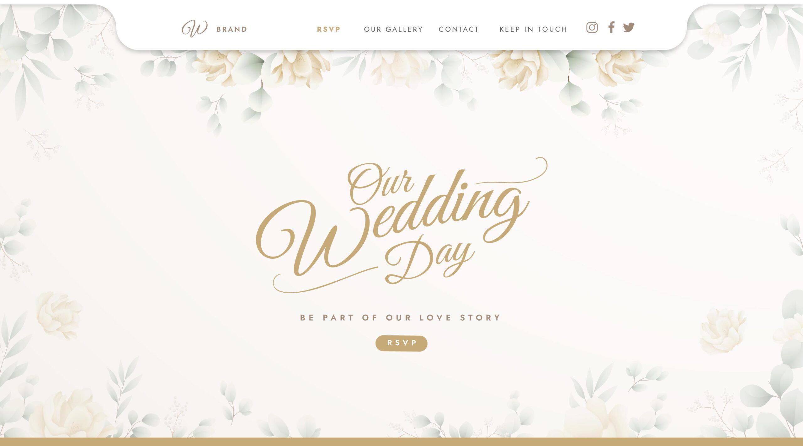 il sito web di matrimonio